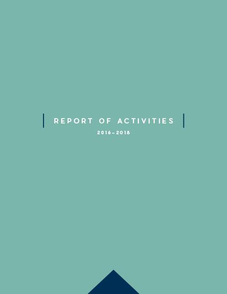 Report of Activities: 2016-2018